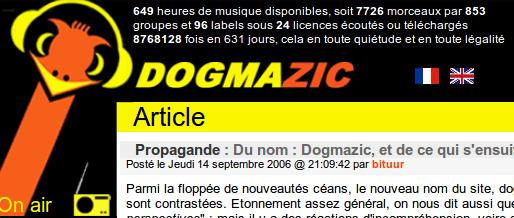 Propagande : Du nom : Dogmazic, et de ce qui s'ensuit…